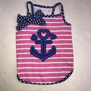 Dog Pet Dress Nautical Anchor Striped Polka Dot Sm